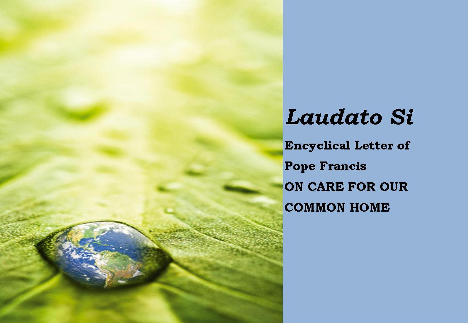 laudato si encyclical letter of pope francis on care for our common home