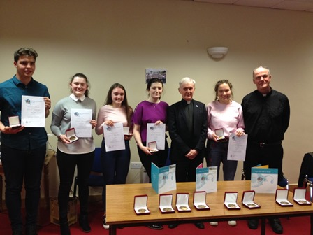 22 TY Students receive John Paul II Award
