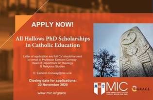 All Hallows PhD Scholarhsips