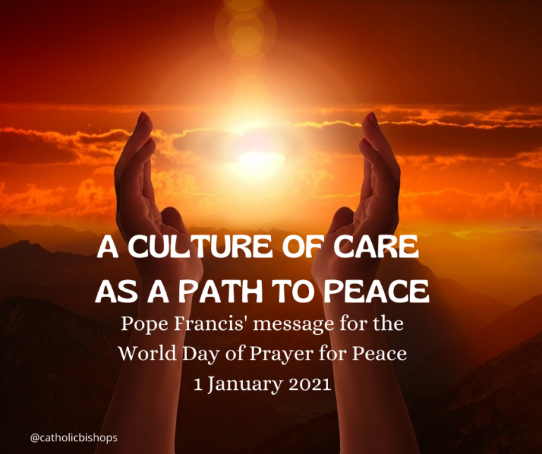 Message of Pope Francis for World Day of Prayer for Peace