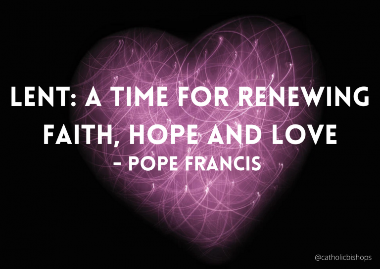 Pope Francis – Lenten Message 2021